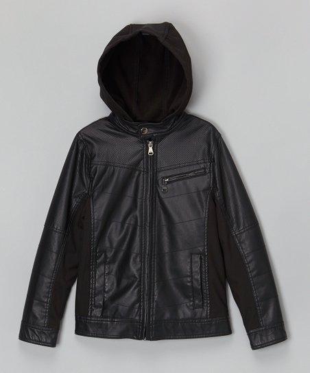 8d75fe23ce68 Urban Republic Black Nappa Faux Leather Moto Jacket - Infant ...