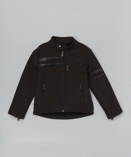 8ef0dd255 Urban Republic Black Faux Leather Stripe Moto Jacket - Infant ...