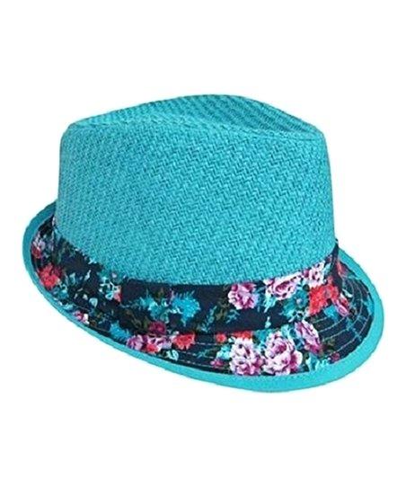 Boardwalk Style Blue Floral Fedora  47200a59195