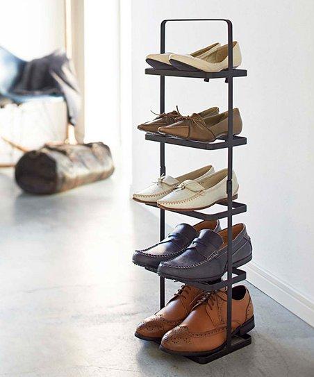vertical shoe rack Yamazaki Black Vertical Shoe Rack | zulily vertical shoe rack