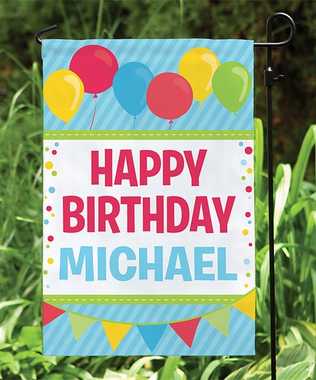 Love This Product Red Blue Happy Birthday Personalized Garden Flag