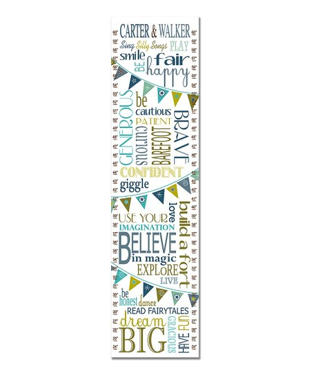 Finny And Zook Blue Twin Rules Growth Chart Zulily