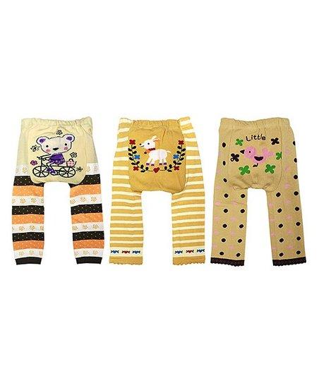 Wrapables Yellow Orange Sweet Baby Leggings Set Infant Toddler Zulily