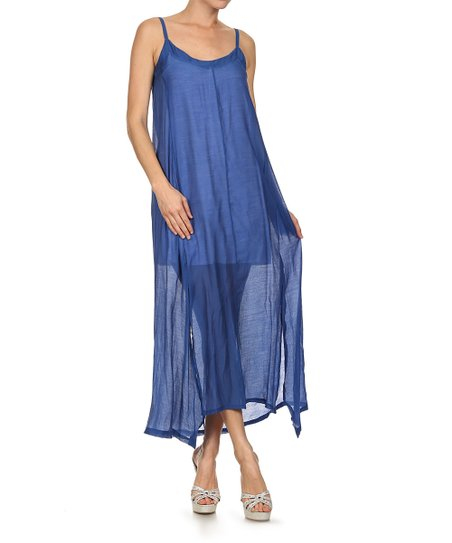 466e0f973b953 love this product Blue Chiffon Layered Maxi Dress