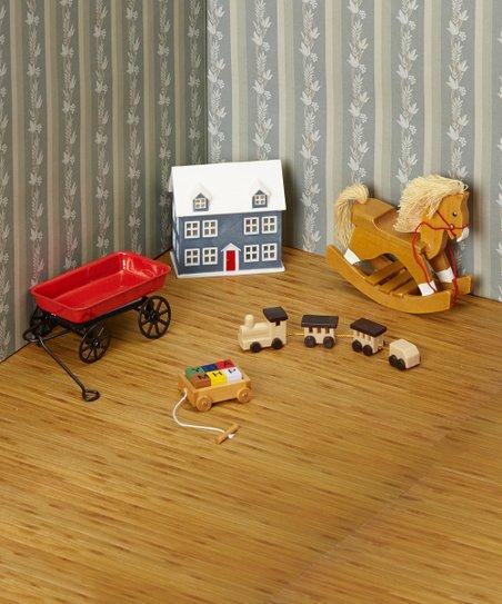 Town Square Dollhouse Miniature Rocking Horse.