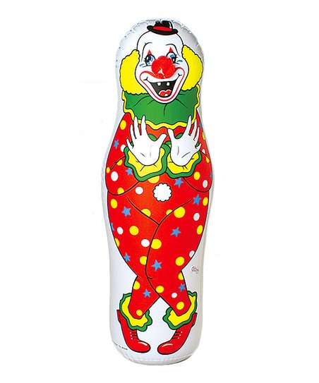 Constructive Playthings Inflatable Clown Punching Bag