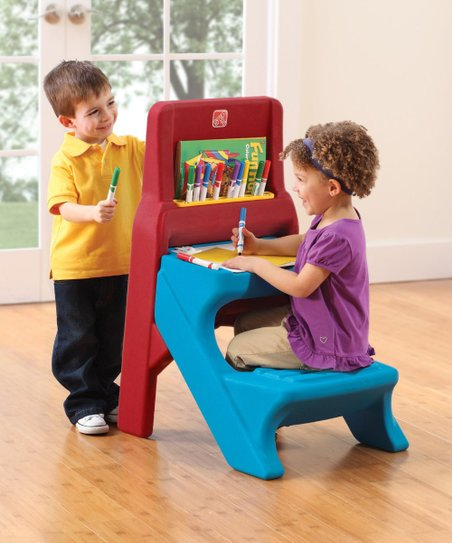 Wondrous Step2 Red Blue Art Easel Desk Caraccident5 Cool Chair Designs And Ideas Caraccident5Info