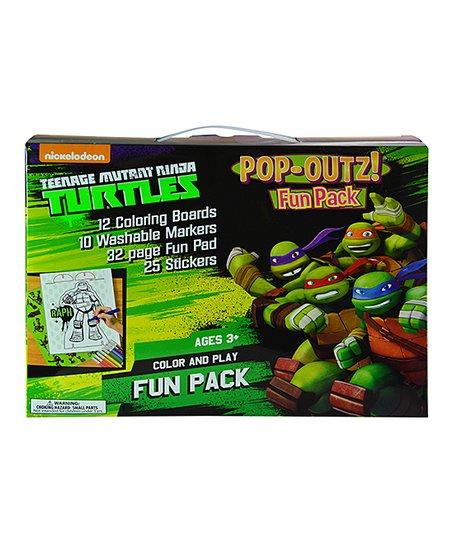 Teenage Mutant Ninja Turtles TMNT Color & Play Fun Pack