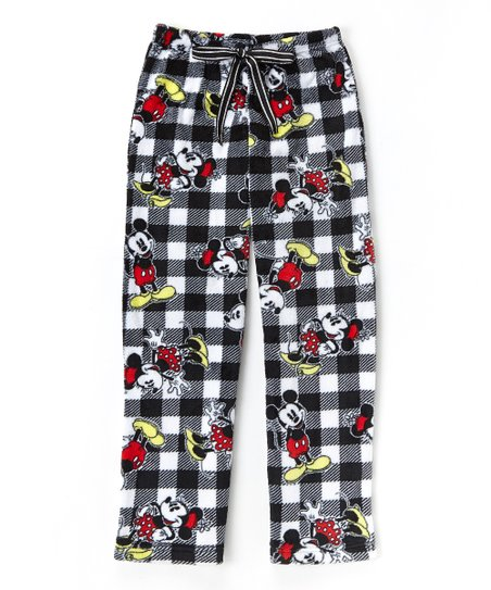 0575381a44 love this product Mickey Mouse Buffalo Check Fleece Pajama Pants - Juniors