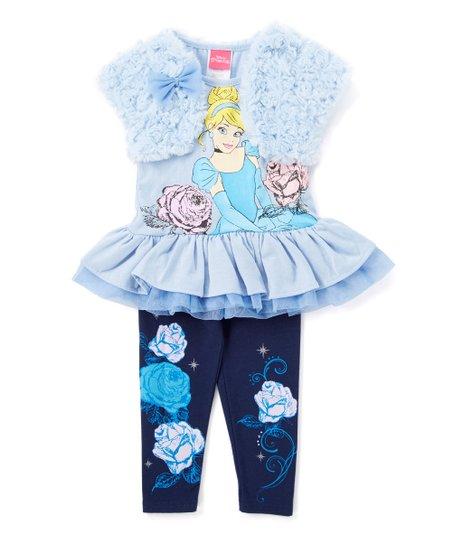 5421d51e3 Childrens Apparel Network Navy   Blue Disney Princess Legging Set ...