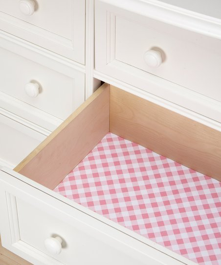 Lesauce Pink Gingham Scented Drawer Liner Set Of Six