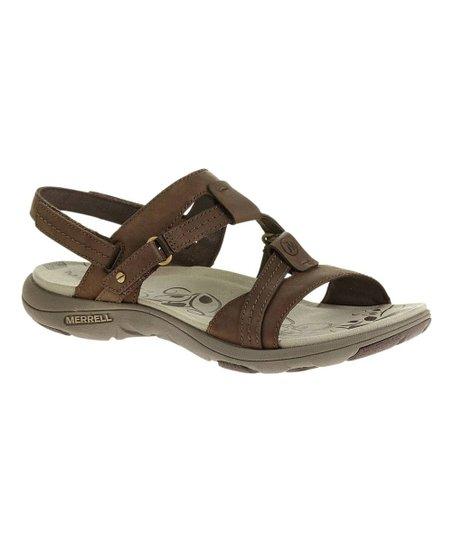 ded0aa4539a8 Merrell Bracken Swivel Leather Sandal
