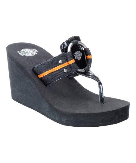 11bd277ba Harley-Davidson Footwear Black Janet Leather Wedge