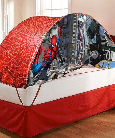 Spider Man Bed Tent & Push Light Set   Zulily