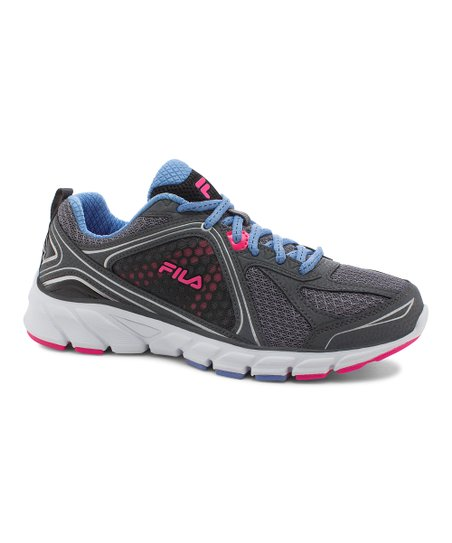da12d1e942960 FILA Gray & Periwinkle Threshold 3 Running Shoe - Women