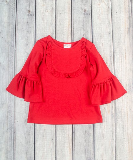 e2716df119f0 love this product Red Ruffle Jordan Shirt - Infant   Toddler