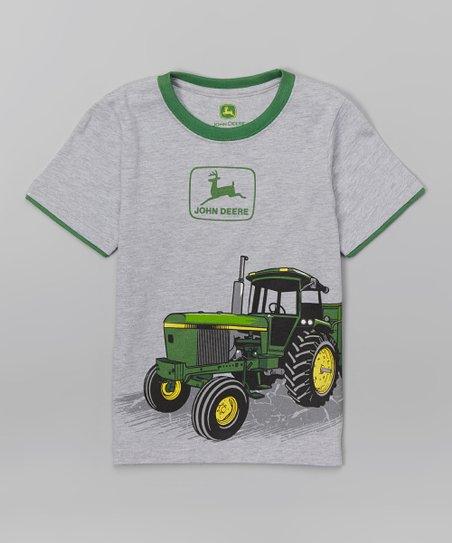 ad067b4a5 John Deere Heather Gray Vintage Logo Tractor Tee - Toddler & Boys ...