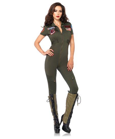 Top Gun Flight Suit Dress Up Set Women Zulily