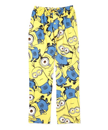 6a86de31c7b1aa love this product Yellow   Blue Despicable Me Minions Pajama Pants - Adult