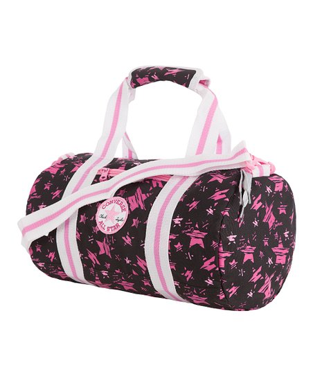 99174938797 Converse Black   Pink Chuck Patch Tube Duffel Bag   zulily