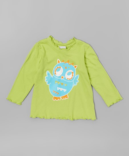Flap Happy Baby Girls Girls Lettuce Edge Tee With Graphic
