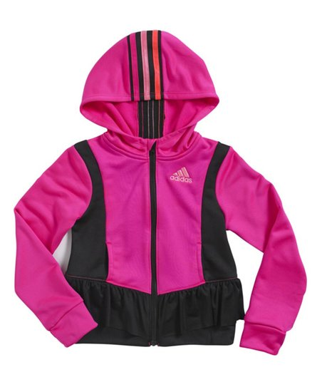 04d5ab028cf5 love this product Pink Hooded Peplum Jacket - Toddler   Girls