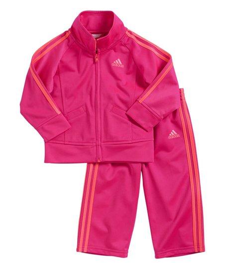 75fcff7e998c46 love this product Pink Stripe Jacket & Track Pants - Infant, Toddler & Girls
