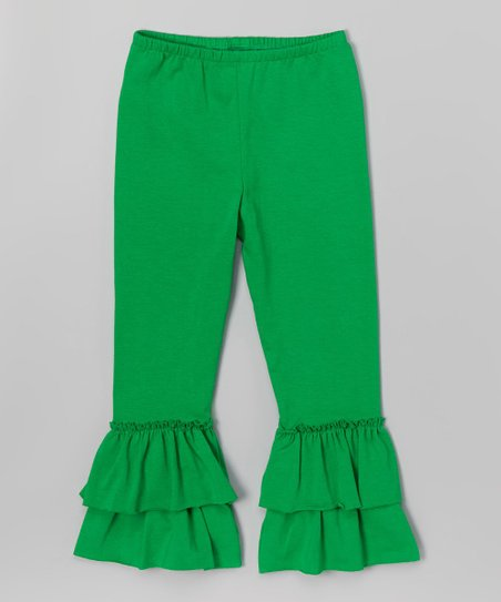 f80fab3f0176f love this product Kelly Green Ruffle Leggings - Toddler & Girls