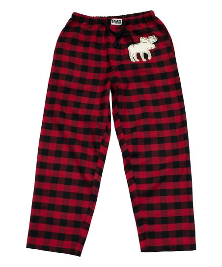 Lazy One Red Black Buffalo Check Moose Pajama Pants Men Zulily