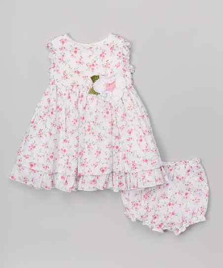 309e0f08854f love this product Pink & White Floral Dress & Bloomers - Toddler & Girls