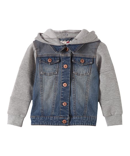 b66c1b711535 Cotton On Kids Light Blue Wash Hooded Denim Jacket - Infant