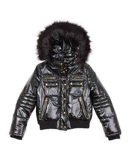 408286333 love this product Rothschild Coats - Black Autobahn Racer Puffer Jacket