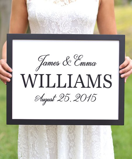 Morgann Hill Designs Names Wedding Date Personalized Wall Art Zulily