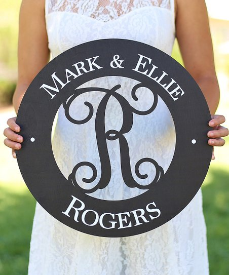 Morgann Hill Designs Last Name   Initial Circle Cut-Out Personalized ... 82e451b6c