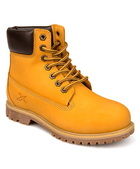4022e4051d1 love this product Yellow Construction-Style Leather Boot - Women