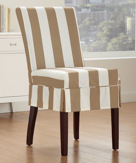 Incredible Caber Surefit Biscuit Cabana Pleated Parson Chair Cover Zulily Gmtry Best Dining Table And Chair Ideas Images Gmtryco