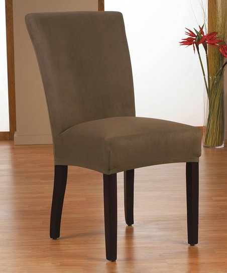 Admirable Caber Surefit Chocolate Harlow Stretch Dining Chair Cover Gmtry Best Dining Table And Chair Ideas Images Gmtryco