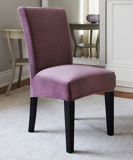 Admirable Caber Surefit Raisin Maude Stretch Dining Chair Cover Zulily Gmtry Best Dining Table And Chair Ideas Images Gmtryco