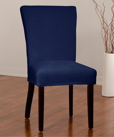 Outstanding Caber Surefit Indigo Montgomery Ii Stretch Dining Chair Gmtry Best Dining Table And Chair Ideas Images Gmtryco