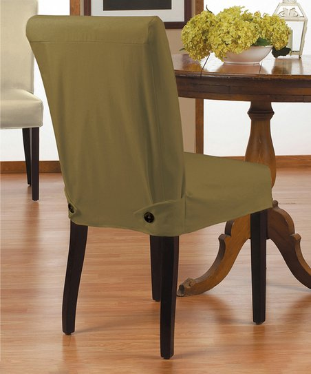 Fine Caber Surefit Shadow Twill Parsons Shorty Chair Cover Zulily Gmtry Best Dining Table And Chair Ideas Images Gmtryco
