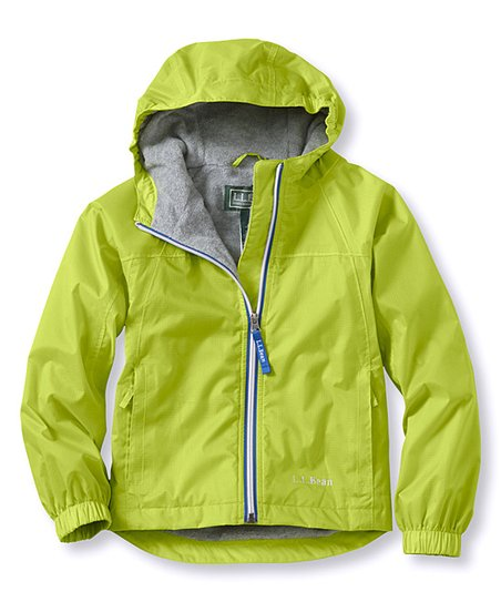 4821617e1 L.L.Bean Kiwi Rain Lined Discovery Rain Jacket - Kids | Zulily