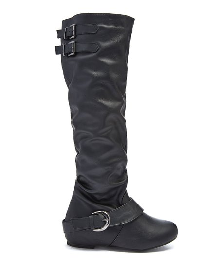 910208a0494c Karyn s Black Slouchy Wide-Calf Boot - Women