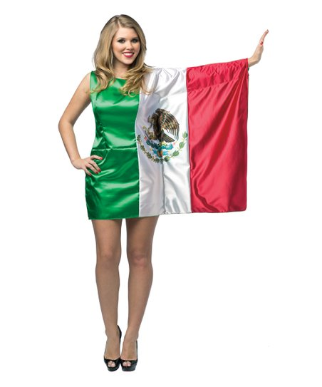 8a3cf68c46c love this product Mexican Flag Costume Dress - Adult