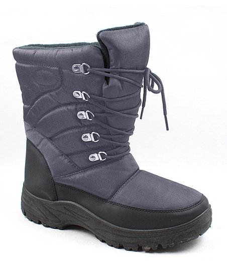 a3b0305f5 Skadoo Gray Padded Lace-Up Snow Boot - Men