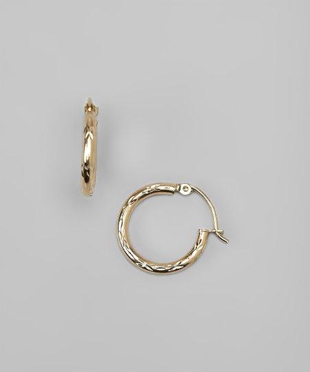 14k Gold Hinged Hoop Earrings