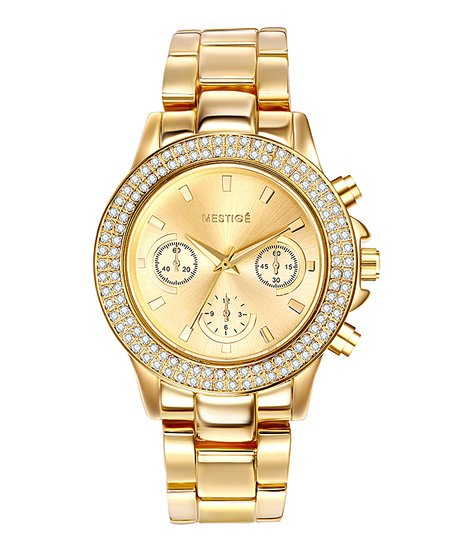Mestigé Swarovski® Crystal & Gold Bradbury Chronograph Watch
