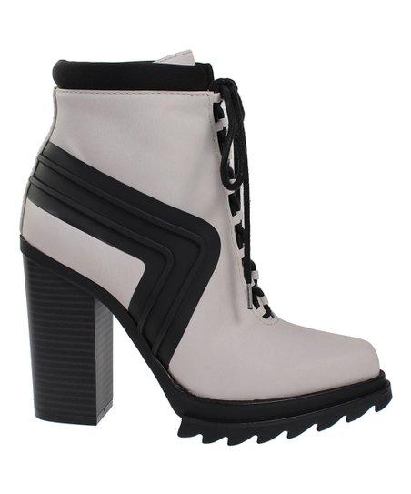 1a9b1da2cb2cdc GX by Gwen Stefani Light Gray & Black Cope Ankle Boot   Zulily