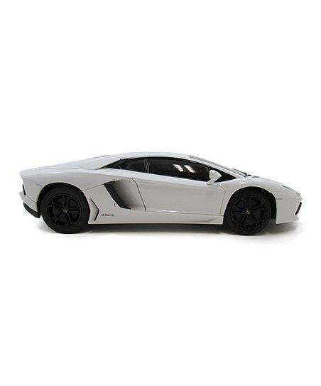 A to Z Toys White Lamborghini Aventador Remote-Control Car