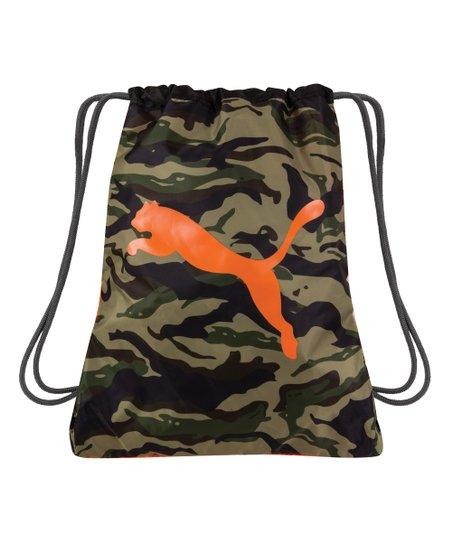 e3a226f845 PUMA Camo Neon Jungle Reversible Drawstring Backpack