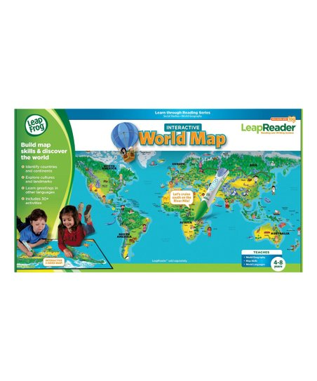 LeapFrog LeapReader Interactive World Map | Zulily